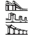 Industrial lines set vector image vector image