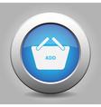 blue button shopping basket add vector image
