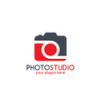 photography theme logotype vector image