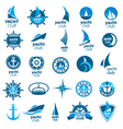 biggest collection of logos marina vector image