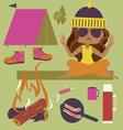 Camping cartoon vector image