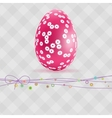Gray Paper easter egg card EPS 8 vector image