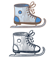 ice-skating shoe vector image