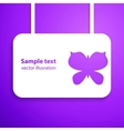 paper cut out butterfly with smooth vector image