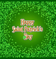 saint patricks day background with green clover vector image