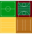 Top view of sport fields set vector image