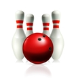 Bowling vector image vector image
