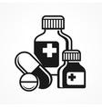 Medicines pills symbols vector image