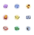 Home environment icons set pop-art style vector image