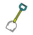 shovel tool isolated icon vector image