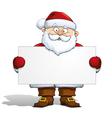 Santa Holding a Label vector image