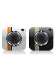 Retro camera icons vector image vector image