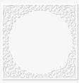 Paper floral frame vector image vector image