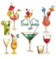 Sketch Cocktail Set vector image
