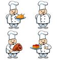 Cook and food vector