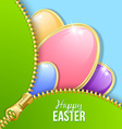 Easter eggs with zipper vector image vector image