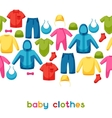 Baby clothes Seamless pattern with clothing items vector image vector image