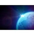 globe in space vector image
