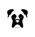 boxer dog muzzle black and white vector image