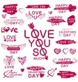 Decorative texts for love confession vector image