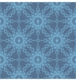 Desaturated blue lace snowflakes seamless pattern vector image