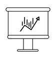 Line board with statistic arrow up to financial vector image
