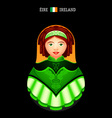 Matryoshka Ireland vector image