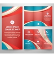 Professional three fold business flyer template vector image
