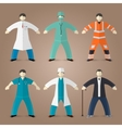 Professions set of medical doctors vector image