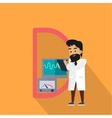 Science Alphabet Letter - D vector image