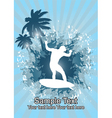 Silhouette surfer vector image