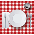 Table Cloth Picnic Placesetting vector image