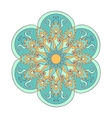 Zentangle stylized color Arabic Indian Mandala vector image
