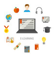 elearning flat composition vector image