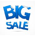 Blue Big Sale Sticker - Label on white background vector image vector image