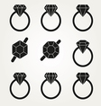 Diamond Icon Symbol Set vector image vector image