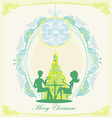 Young couple flirt and drink champagne near by vector image vector image