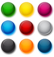 Round colorful balls vector image