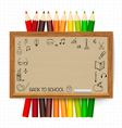 Welcome back to school with blackboard vector image