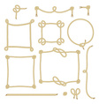 Set of Simple Rope Frames Graphic Designs on white vector image