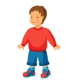 pretty little boy in trousers and vector image