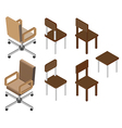 Chair isometric vector image