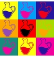 Amphora sign Pop-art style icons set vector image
