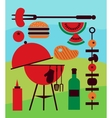 backyard barbecue scene vector image