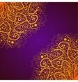 Beautiful Deco Gold Mandala Patterned vector image