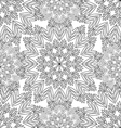 contour seamless pattern with snowflakes vector image