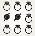 Diamond Icon Symbol Set vector image