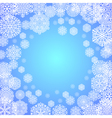 frost on the window vector image