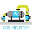 Gas heat exchanger in refinery Industrial vector image
