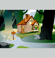 House in the woods vector image
